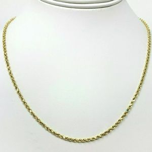 """Other - 10k Solid Yellow Gold Rope Chain 16"""" 2mm"""